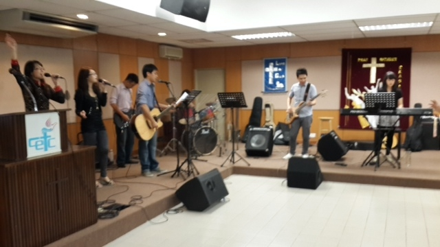 Cheras EFC youth leading a Sunday Worship Service