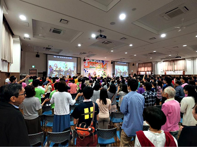 Praise and worship session